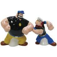 Popeye Face Off With Brutus Salt and Pepper