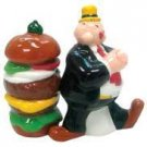Popeye Wimpy and Hamburger Salt and Pepper