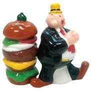 Popeye Wimpy and Hamburger Salt and Pepper