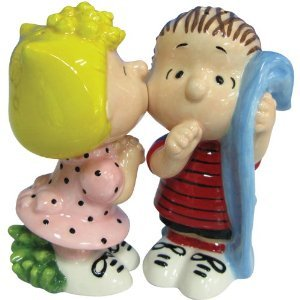 Peanuts Magnetic Sally and Linus Kissing Salt and Pepper