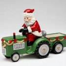 Christmas - Santa Driving A Tracktor Salt & Pepper
