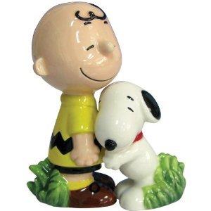 Peanuts Snoopy Hugging Charlie Brown Salt and Pepper