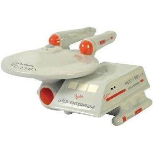 Star Trek USS Enterprise and Shuttle Salt and Pepper