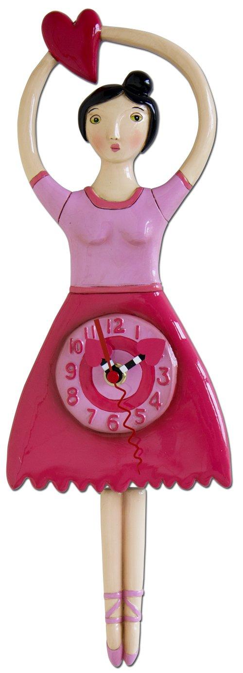 MICHELLE ALLEN Twinkle Toes Ballerina Clock