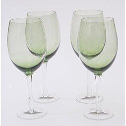 Olive Green 18 oz White Wine Glasses (set of 4)
