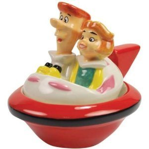 The JETSONS George and Jane In Red Ship Salt & Pepper
