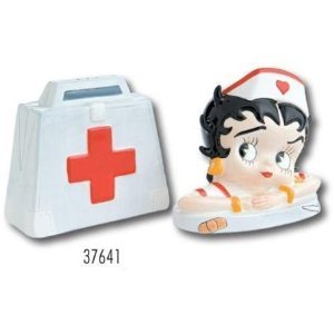 Nurse Betty Boop Salt and Pepper