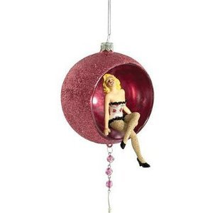 Marilyn Monroe Pink Figure in Ball Ornament