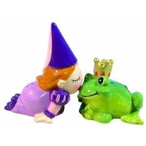 MWAH Magnetic Princess and Frog Salt and Pepper