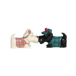 MWAH Scottish Terrier wearing Sweater and Hat Salt and Pepper Shakers