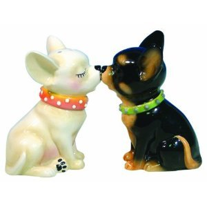 MWAH Aye Chihuahua Dog Couples Kissing Salt Pepper