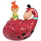 The Flintstones Pebbles and Dino Cookie Jar