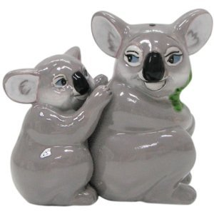 MWAH Magnetic Mommy and Baby Koalas Salt and Pepper Shaker Set