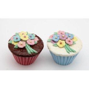 Flower Cupcake Salt and Pepper Shaker Set