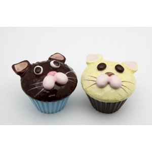 Cat and Kitten Cupcake Salt and Pepper Shaker Set