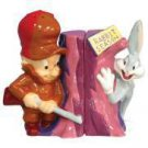 Looney Tune Elmer Fudd and Bugs Bunny Salt and Pepper