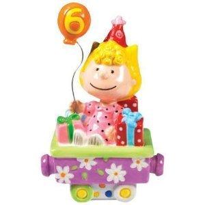 PEANUTS SALLY HAPPY BIRTHDAY TRAIN NO.6. FIGURINE OR CAKE TOPPER