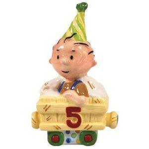 PEANUTS PIG PEN HAPPY BIRTHDAY TRAIN NO.5. FIGURINE OR CAKE TOPPER