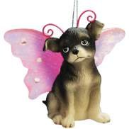 Keith Kimberlin Chihuahua Dog With Wing Ornament