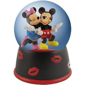 Disney Mickey And Minnie Mouse Lots Of Kisses 65MM Water Globe Figurine