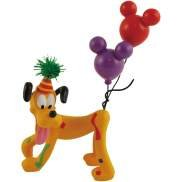Disney Happy Birthday Pluto Dog With Balloon On His Tail Figurine Or Cake Topper