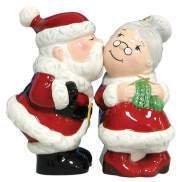 MWAH Santa Kissing Mrs Clause Salt and Pepper Shaker