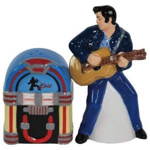 Elvis Presley Elvis and Jukebox Magnetic Salt and Pepper Shakers
