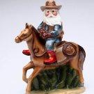 Christmas ~ Cowboy Santa Ride Horse Salt and Pepper