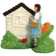 Wizard Of Oz Dorothy & Wicked Witch House Salt & Pepper