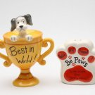 Trophy Dog Be Paws You're My Friend & The Best In The World Salt and Pepper