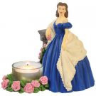Gone With The Wind Tealight Candle Holder Scarlett in Blue Dress Figurine