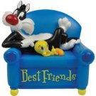 Looney Tunes Sylvester Cat & Tweety Bird Best Friend Musical Figurine Home Decor