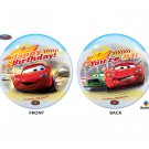 "Disney Happy Birthday 22"" Lightning McQueen Car Bubble Balloon"