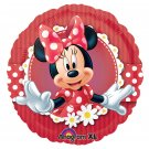 "Disney Red Polka Dot Minnie Mouse 18"" Foil Balloon Party Accessory"