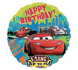 "Disney Happy Birthday Car Sing A Tune 28"" Foil Balloon Party Supply"