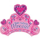 "Happy Birthday Princess Tiara 34"" Foil Balloon Party Supply"