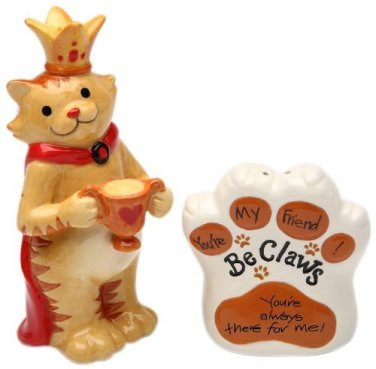 Be Claw - King Cat wear Crown You Are Always There for Me Salt and Pepper