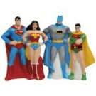 DC Comics Superman Wonder Woman Batman Robin Justice League Salt and Pepper