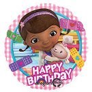 "Disney DOC MCSTUFFINS and Lambie 17"" Happy Birthday Balloon Party Supply"