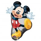 "31"" Red Mickey Mouse Full Body Mylar Balloon Party Supply"