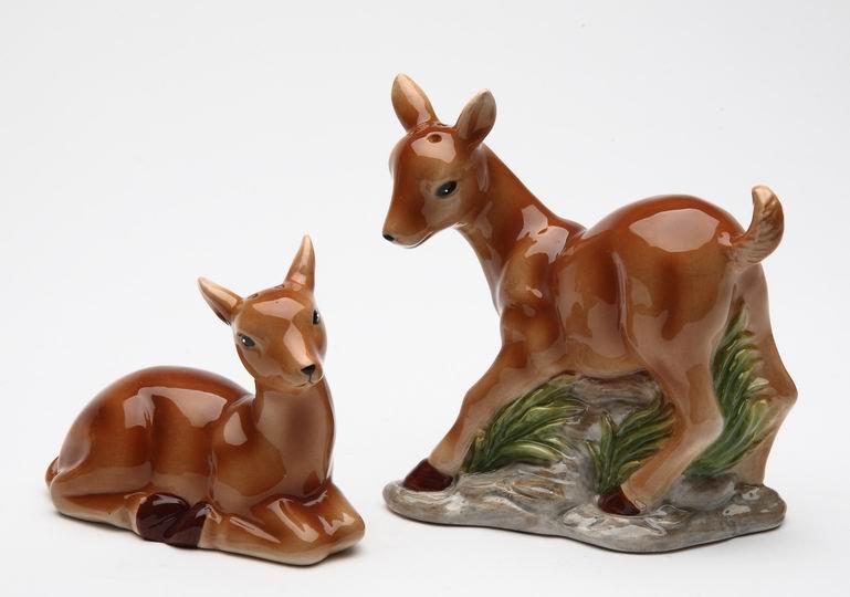 ANTHROPOMORPHIC Deer Couple Salt and Pepper