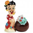 Hawaiian Betty Boop and Pudgy Dog Salt and Pepper