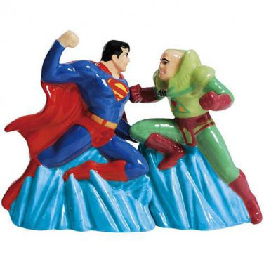 DC Comics Superman vs. Lex Luther Magnetic Salt and Pepper Shaker Set