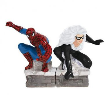 Marvell Comic Spiderman Vs Black Cat Salt and Pepper