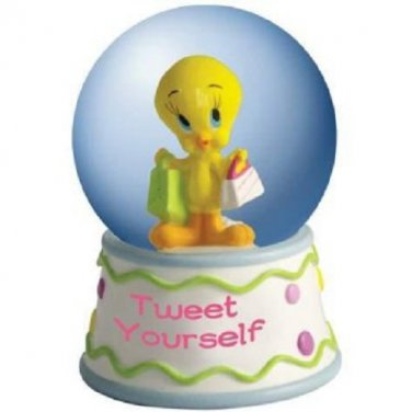 "Looney Tunes Tweety Bird Going Shopping ""Tweet Yourself"" 45mm Water Globe"