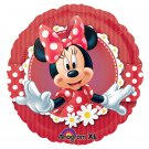 "Disney 2 Red Polka Dot Minnie Mouse 9"" Foil Balloon Party Accessory"