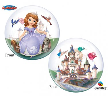 "Disney Princess Sofia The First 22"" Bubble Balloon Party Supply"