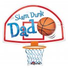 "Father Day ""Slam Dunk Dad"" Basketball 25"" Foil Balloon Party Supply"