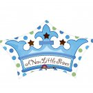 "Baby Boy A New Little Prince Crown 25"" Balloon Party Supply"