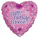 "Happy Birthday Princess Heart Shaped 18"" Balloon Party Supply"